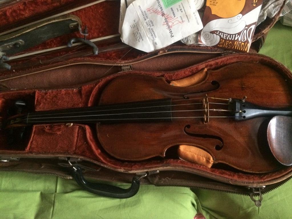 Помогите оценить старинную скрипку.