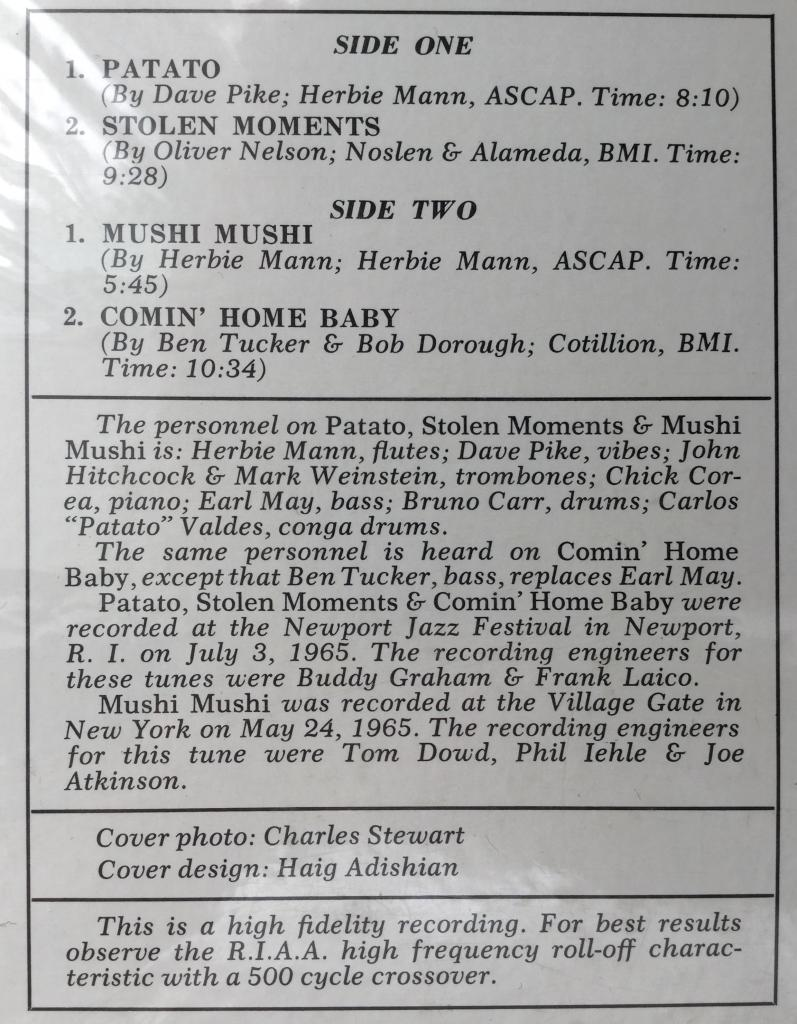 Herbie Mann на Atlantic и Embryo. 60е и 70е годы.